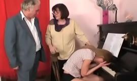 scalding grandad in a lewd habitation orgy